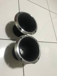 Par de cornetas alumínio