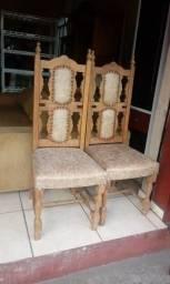 Cadeiras Império Antigas Maciças-Estofamento Perfeito-Ac Cartão-Frete Grátis Leia Td: