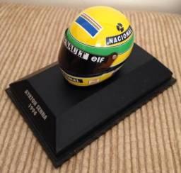 Capacete miniatura Ayrton Senna 1994