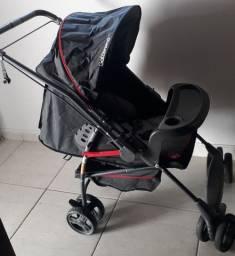 Carrinho e bebê conforto galzerano preto