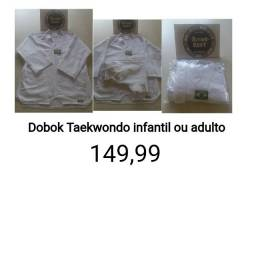 Kimonos Dobok Taekwondo Adulto e infantil Produtos novos e embalados