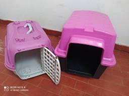 Cama pet e caixa de transporte pet