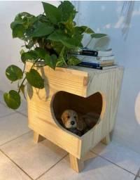 Casinha de cachorro madeira pinus