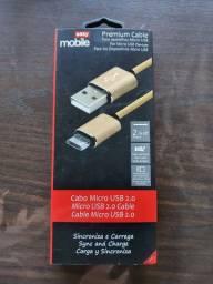 Cabo USB 2.0 X Micro USB 2.0 2 METROS EASY MOBILE