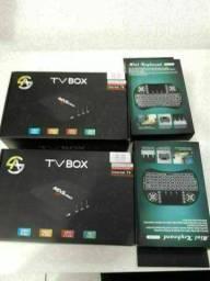 Mini Teclado / TV BOX 64 GB - 8 Ram