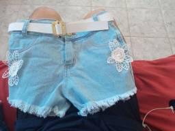 Shorts feminino infantil (14 anos)