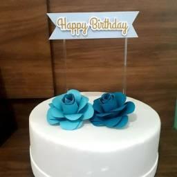 Topo de bolo a partir de R$10,00 e adesivos personalizados