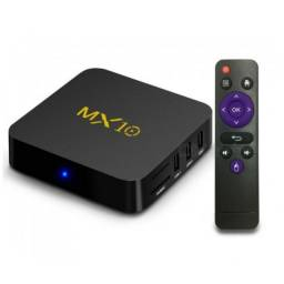 TV Box Mx10 Media Player NetFlix Android 9 Com 4GB/32GB Até 4k