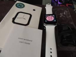 ?Smart Watch X7 Branco, Atende e Faz Chamadas, Toca Música