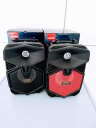 Caixa De Som Bluetooth Portátil Kimiso Km-206 Usb Fm Sd Aux