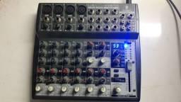Mesa de som de 12 canais e efeitos