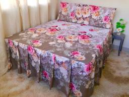 Colchas para cama box e Queen 80% algodão 20% poliéster