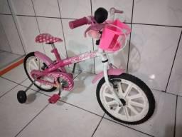 Bicicleta Caloi aro 16 Barbie