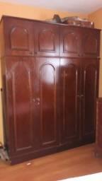 Guarda-roupas em madeira maciça 4 portas, maleiro 4 portas