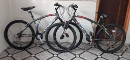 Duas bicicletas aro 26 Houston 21 marchas