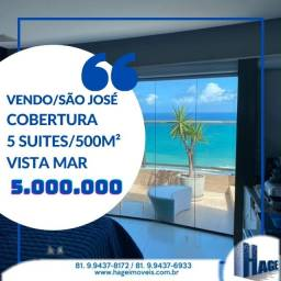 Título do anúncio: Edf Pier Mauricio de Nassau- Cobertura - Mobilhada |-Vista Mar- Bairro de São João