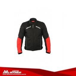 jaqueta ls2 serra evo preto vermelho
