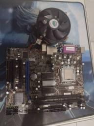 Kit placa mãe processador Intel