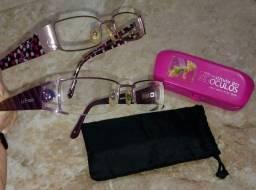 2 armações de óculos para leitura