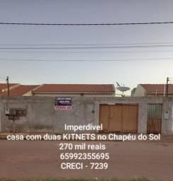 Casa à venda no Chapéu do Sol, contendo duas quitinetes - 270 mil reais
