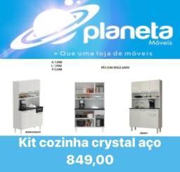 Título do anúncio: Kit cozinha Crystal aço