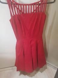 Vestido vermelho tamanho 0