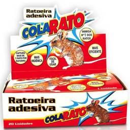 Ratoeira adesiva cola rato com 20
