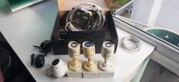 BARBADA! Kit completo CFTV 4 câmeras GIGA barato!