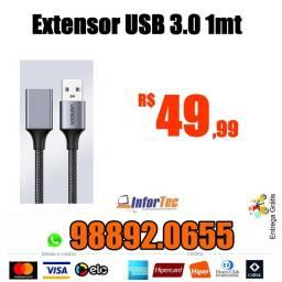 Extensor USB 3.0 1Mts e Extensor USB 2.0 2Mts com a Entrega GRÁTIS