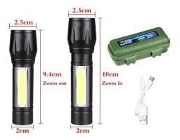 NOVO! Lanterna Tática Recarregável USB com Função Strobo