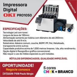 Título do anúncio: Impressora digital para rótulos Okidata 1050