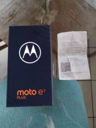 Moto E7 Plus 64gb completo e zerado