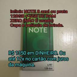 INFINIX NOTE 6 128GB + 6GB RAM Zero (NUNCA usado) completo na caixa