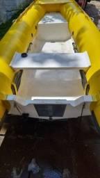 Título do anúncio: Bote inflável ZEFIR novíssimo com motor 15 HP ano 2015 e carreta ano 2015
