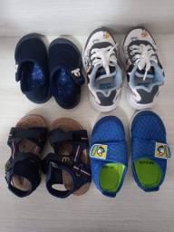 kit -3 tênis e 1 sandália infantil  ( cada unidade sai por R$ 22.50)