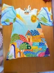 Vestido Alegre Colorido 2 anos