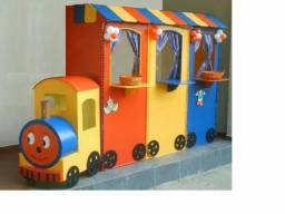 Trenzinho com Mini Lanches (Hambúrgueres, Pizzas, Churrasquinhos e muito mais)