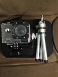 Câmera de Ação (Generica Gopro) ELEcam 4k + Case + 20 Acessórios + Mini tripé