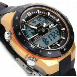 Relógio Skmei 1016 Esportivo Preto e Amarelo-Prove D?Agua