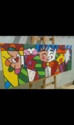 Quadros pintados à óleo sobre tela