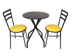 Mesa redonda com duas cadeiras para bar,restaurante,buffet e lanchonete - Loja da Fábrica