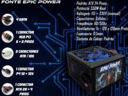 Gabinete gamer, fonte 550w epick power, HD 1 tb seagate