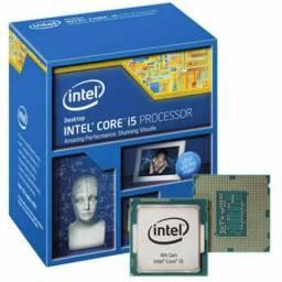 Kit placa mãe Asus H81M-A, I5 4670, 8gb memória Ram, cooler intel
