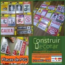 Placas de Sinalização de PVC - Diversos Modelos