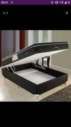 Cama casal box baú com molas linha Confort 12 parcelas R$ 97.00