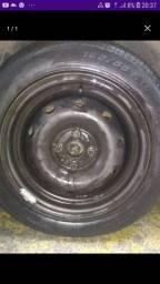 Vendo roda com pneu meia vida