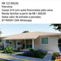 Casas 2/4 ou 3/4 com suite