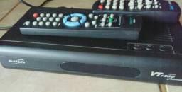 Receptor analógico vt1000 slim Com controle remoto visiontec