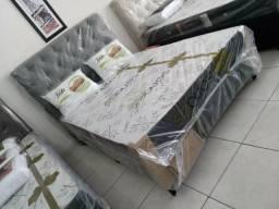 Cama box completa conjugada c/ colchão D33!!!