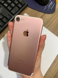 Vendo IPhone 7 seminovo 128gb rose gold *apenas venda*